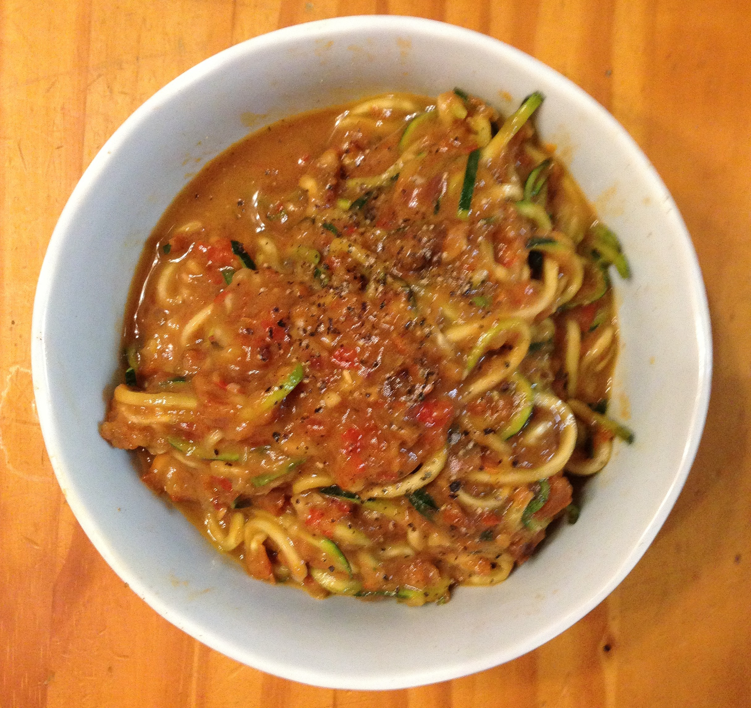Dinner for One– Quick Roasted Red Pepper Pasta Sauce | Glow by ...